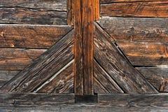 Vecchio reticolo di legno della rete fissa Fotografia Stock Libera da Diritti