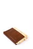 Vecchio retro libro della copertura di ricetta delle nonne sopra fondo bianco Immagine Stock Libera da Diritti