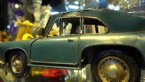 Vecchio retro metallo Toy Cars View del primo piano