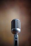 Vecchio retro microfono Fotografia Stock Libera da Diritti