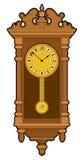 Vecchio retro orologio di parete Immagini Stock Libere da Diritti