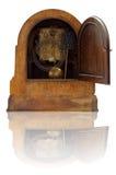 Vecchio retro orologio interno Fotografia Stock