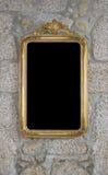 Vecchio retro specchio sulla parete Immagine Stock Libera da Diritti