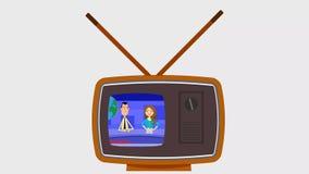 Vecchio retro tipo di vettore TV stock footage