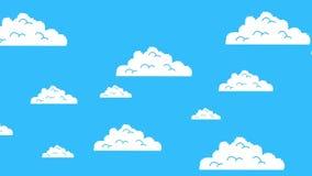 Vecchio retro video gioco Arcade Clouds Moving su un cielo blu illustrazione di stock