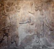 Vecchio rilievo assyrian fotografia stock libera da diritti