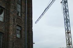 Vecchio rinnovamento della costruzione Fotografia Stock