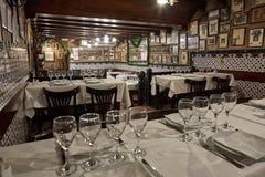 Vecchio ristorante spagnolo tradizionale famoso a Barcellona della Spagna, il suo nome Caracol la lumaca 12 09 La Spagna 2018 fotografia stock libera da diritti