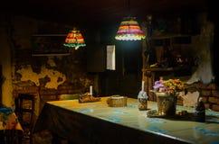 Vecchio ristorante in una costruzione del tipo di torrione antica fotografie stock libere da diritti