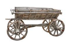 Vecchio ritaglio di legno del vagone Fotografia Stock Libera da Diritti