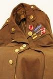 Vecchio rivestimento dell'esercito americano Immagini Stock Libere da Diritti