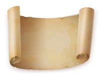 Vecchio rotolo del rotolo o pergamena dell'annata, carta antica Fotografie Stock