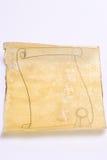 Vecchio rotolo di carta Immagini Stock Libere da Diritti