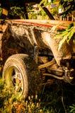 Vecchio rottame dell'automobile Fotografia Stock Libera da Diritti