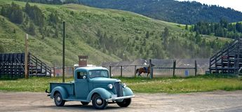 vecchio s camion del cowboy Immagine Stock Libera da Diritti