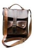 Vecchio sacchetto di cuoio portato Fotografia Stock Libera da Diritti