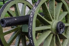 Vecchio sacco del cannone famoso immagine stock
