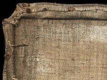 Vecchio sacco della tela di canapa Fotografia Stock Libera da Diritti