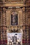 Vecchio santuario della basilica del piccolo altare della cappella di Guadalupe Mexico City Fotografia Stock Libera da Diritti