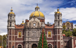 Vecchio santuario della basilica di Guadalupe Mexico City Mexico Fotografia Stock Libera da Diritti
