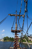 Vecchio sartiame della nave di navigazione Fotografia Stock Libera da Diritti
