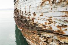 Vecchio scafo di nave Fotografie Stock Libere da Diritti