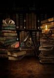 Vecchio scrittorio delle biblioteche Fotografie Stock