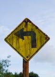 Vecchio segnale stradale Fotografia Stock Libera da Diritti