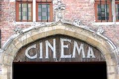 Vecchio segno del cinematografo Immagini Stock