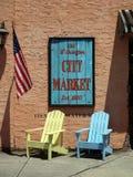 Vecchio segno del mercato della città di Wilmington Fotografie Stock Libere da Diritti