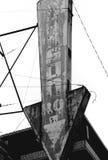 Vecchio segno del metallo Fotografia Stock Libera da Diritti