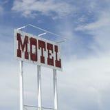Vecchio segno del motel Fotografia Stock