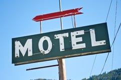 Vecchio segno del motel Immagini Stock