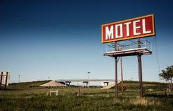 Vecchio segno del motel su Route 66 Immagini Stock