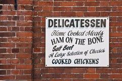 Vecchio segno del negozio Immagine Stock Libera da Diritti
