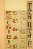 Vecchio segno del tabaccaio Fotografia Stock