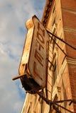 Vecchio segno dell'hotel Immagini Stock