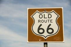 Vecchio segno dell'itinerario 66 Fotografia Stock Libera da Diritti