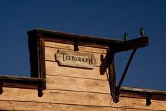 Vecchio segno dell'ufficio di telegrafo Fotografia Stock Libera da Diritti