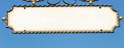Vecchio segno della memoria Fotografia Stock