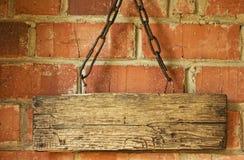 Vecchio segno di legno immagini stock libere da diritti