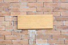 Vecchio segno di legno Fotografia Stock