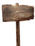 Vecchio segno di legno esposto all'aria Immagine Stock Libera da Diritti