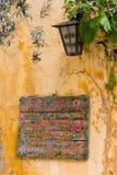 Vecchio segno greco Fotografie Stock