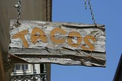 Vecchio segno messicano della barra Immagine Stock Libera da Diritti
