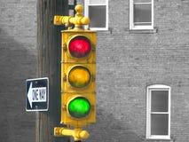 Vecchio semaforo Fotografie Stock Libere da Diritti