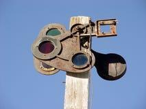 Vecchio semaforo Fotografia Stock Libera da Diritti