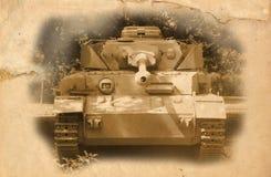 Vecchio serbatoio tedesco del periodo di WWII Immagini Stock Libere da Diritti