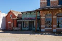 Vecchio set cinematografico della città di selvaggi West in Mescal, Arizona immagini stock libere da diritti