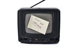 Vecchio set televisivo portatile Fotografie Stock Libere da Diritti